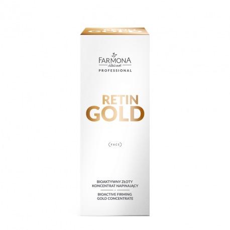 FARMONA PROFESSIONAL RETIN GOLD Bioaktywny złoty koncentrat napinający do twarzy, szyi i dekoltu 30ml