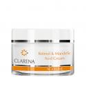 CLARENA ACID LINE Krem z kwasem migdałowym i retinolem